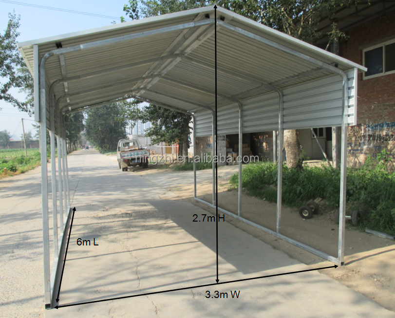 6x9m steel carportcanopy for car shelter shade buy steel carportopen garagerv canopy carport product on alibabacom