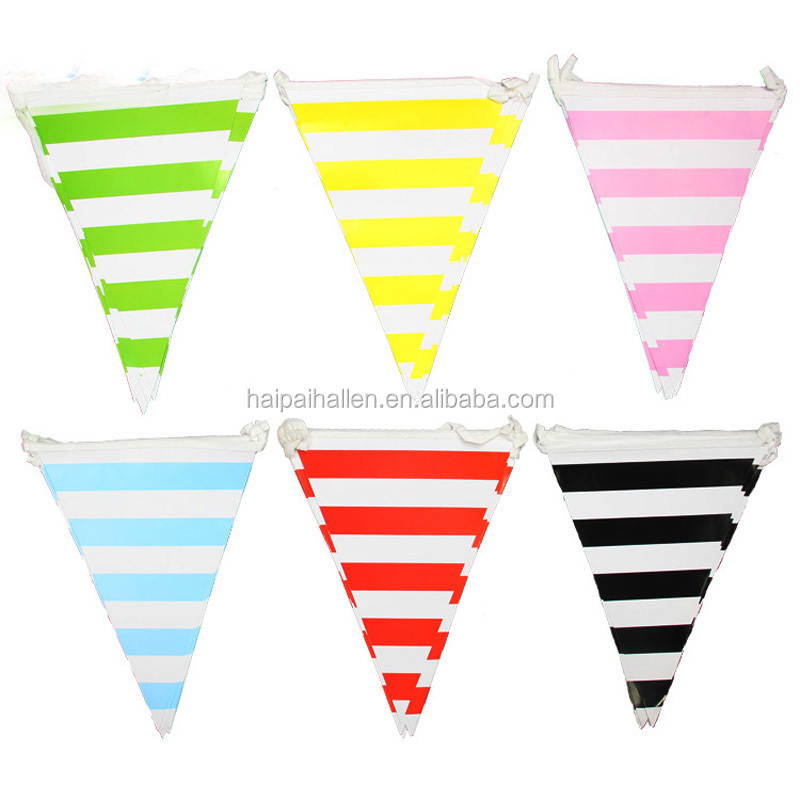 Stripe Bunting Blue Flag Banner 3 metres Length Adult Birthday Party decoration