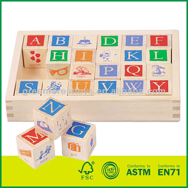 Children ABC Wooden Blocks
