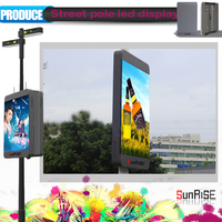 Advertising LAN/Wifi/3G intelligent management/ P3/P4/P5/P6 series/street lighting pole led display/billboard/panel/screen/