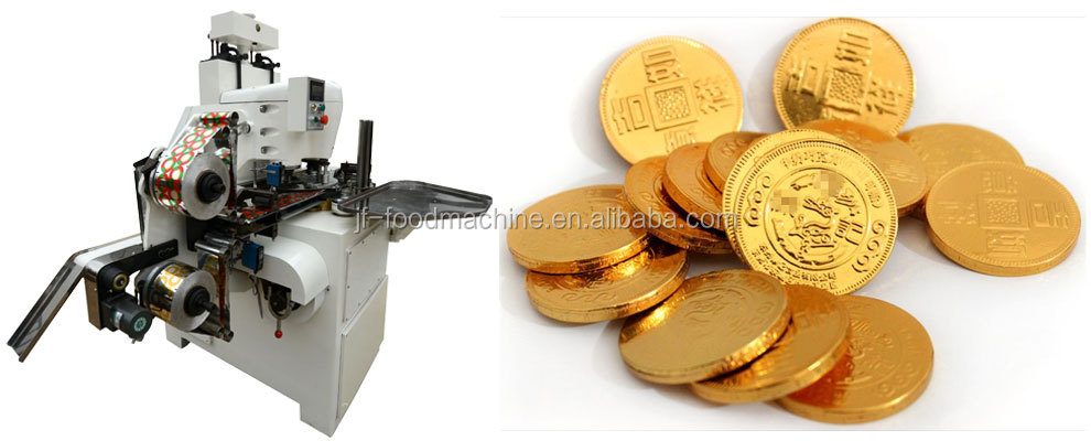 Hydraulic pressure coin confectionery Chocolate Packaging machine