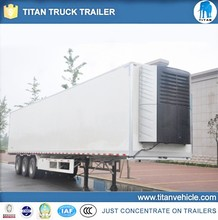 Euro standard 100cbm double axles freezer semi trailer 2 axle trailer used refrigerator trailer