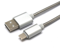 Rocfly 2 in 1 reversible interface metal flexible usb cable for smartphone