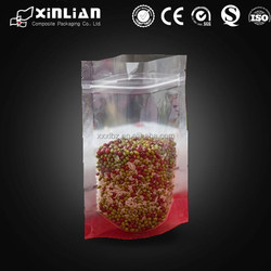 transparent fishing lure packaging with zip/fishing lure packaging food bag