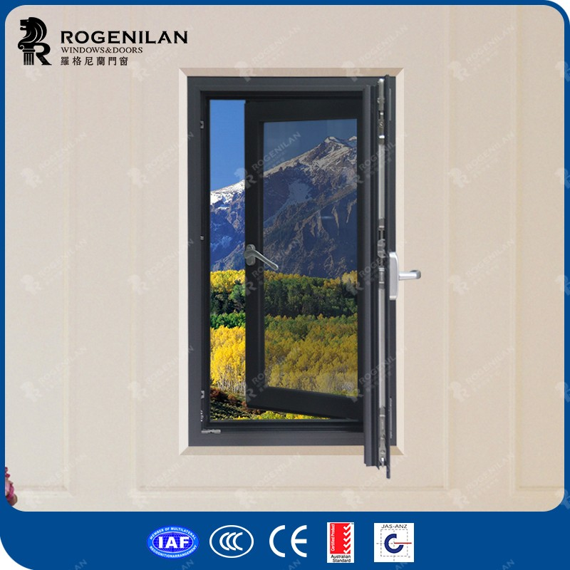 Rogenilan 118 series germany style powder coated aluminum side hung casement window
