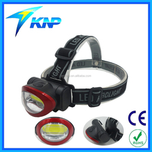 COB Head Light 3 Modes Switch White Light Headlamp Water Resistant Running Light