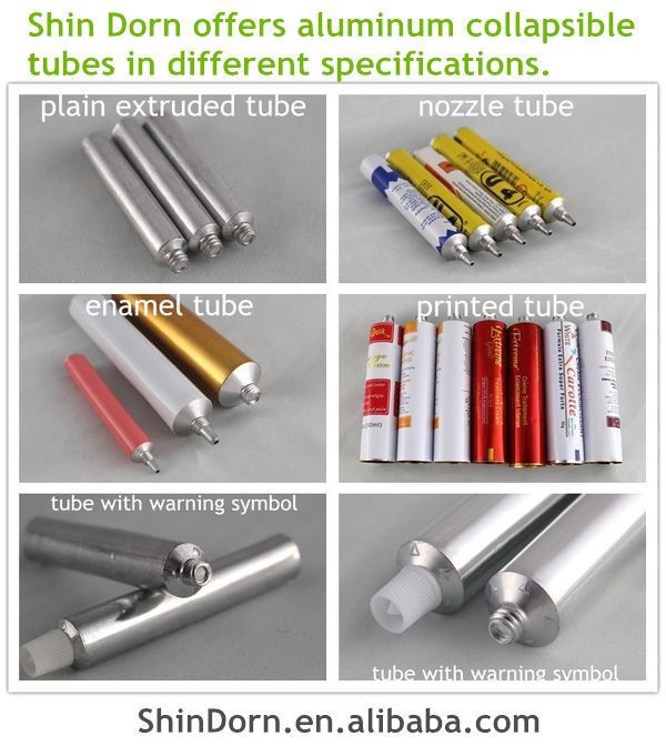 High quality collapsible aluminum tubes for paste adhesive glue