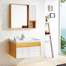 wholesale wooden bathroom cabinet wall makeup mirror wash basin