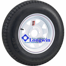 4-Hole High Speed Spoked Rim Design Trailer Tire Assembly - 480-12 tire,