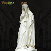 Church Decorative Marble Holy Mother Mary Statue