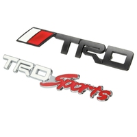 New Arrvial 3D Car Auto Vehicle Metal for TRD Logo Front Grille Grill Badge Emblem For TOYOTA