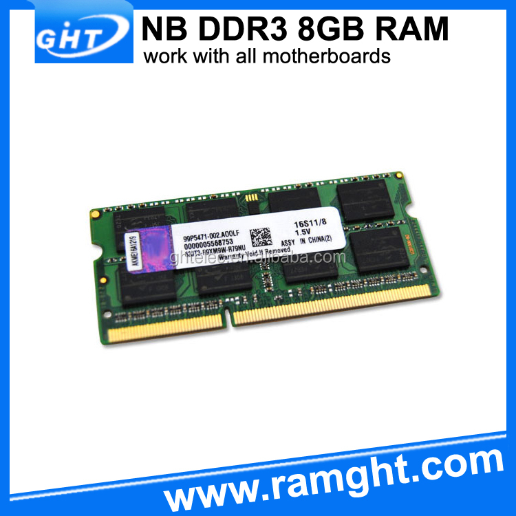 Computer motherboard 8gb notebook memory module ddr3