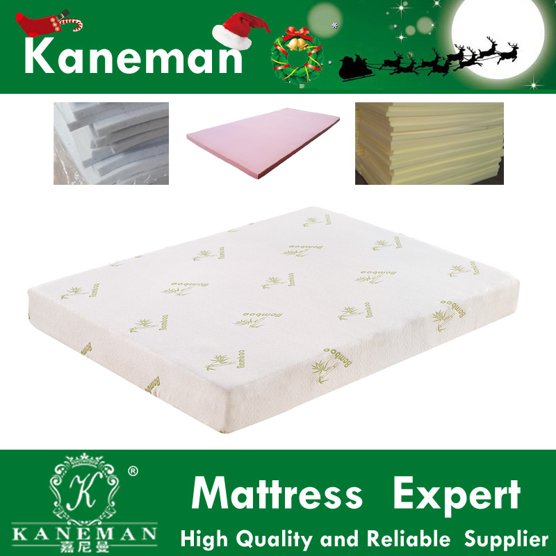 Vacuum compress rolled gel memory foam mattress with removable cover 8 inch model :KMF1695