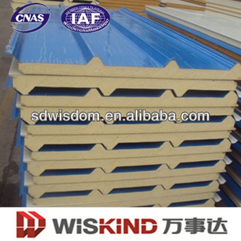 Polyurethane Sandwich Panel for green and easy construction prefab house