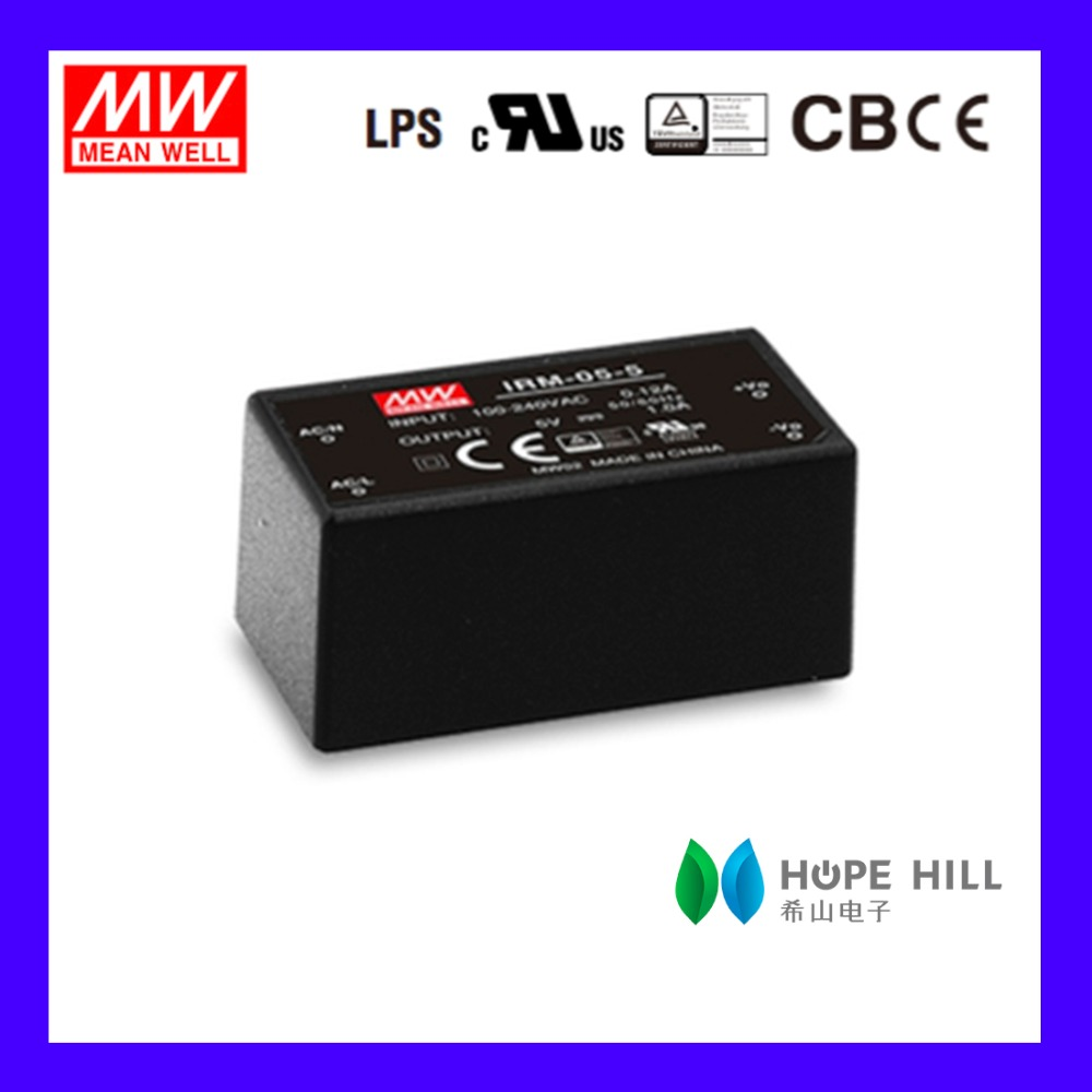 Original MEAN WELL IRM-05-5 5W 5V single output Miniature Encapsulated type Green open frame switching power supply