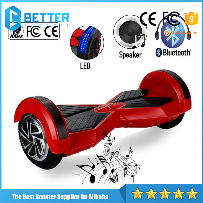 8 Inch High Quality two wheel self balancing electric scooter with factory price, APP Function Safety UL Listed Hoverboard