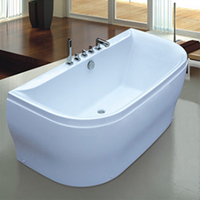 White Deeply acrylic walk in bathtub for fat people