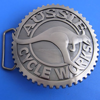 Australian kangaroo Aussie cycle works metal belt buckles