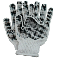 NMSAFETY 7 gauge very cheap cotton work gloves with rubber grip dots