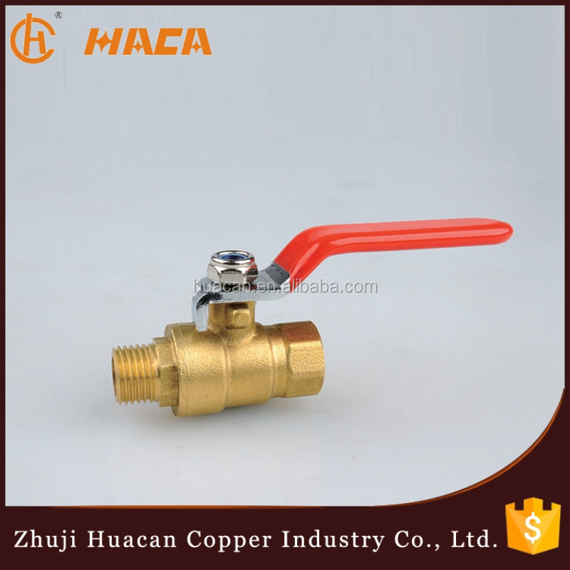 Forged CW617n Brass Hydraulic Control Valve Female Male Thread Ball Valve
