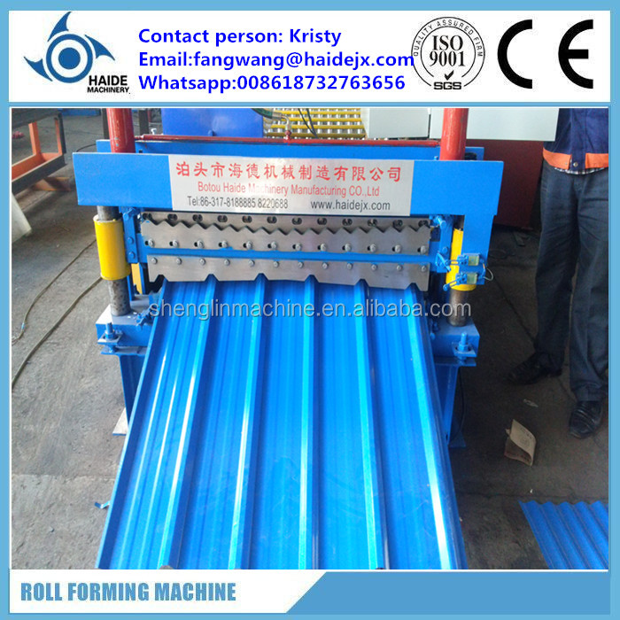 automatic roof tile production line coloured steel tile forming corrugated roof sheet making machine