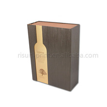 China personalized cardboard box packaging factory white wine gift box, wine gift box for 2 bottles, double bottle wine box.