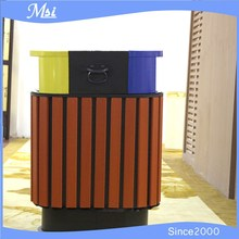 Double Round Outdoor Dustin/trash Can/outdoor Trash Bin