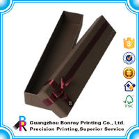 High quality oem cardboard tube box with ribbon