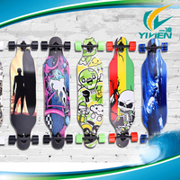 skate board for wholesale.23inch wooden longboard with high quality bearing