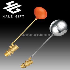 "Sanitary Ware Water Tank Brass Float Valve,Brass Balance Ball Valve with 6"" Plastic Ball"
