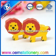 2016 new style lions eraser/ promotion animals eraser for kids