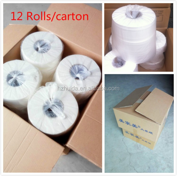 Large toilet disposable paper tissue paper roll hygienic paper