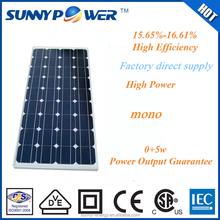 130w mono solar panel dongguan factory direct supply taiwan solar panel manufacturers