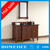 Solid Wood Modern Bath Vanity Walnut Cabinet Bathroom for American market