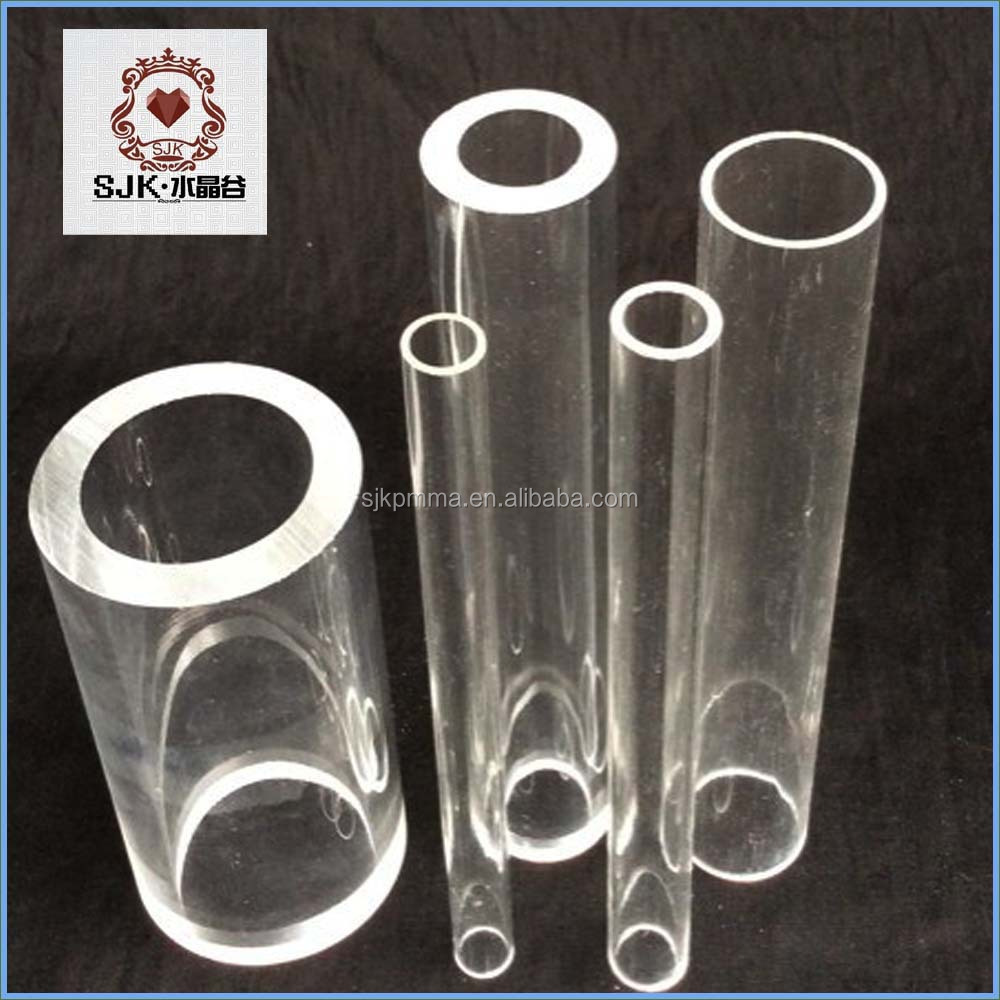 Large diameter clear acrylic hollow tube plastic