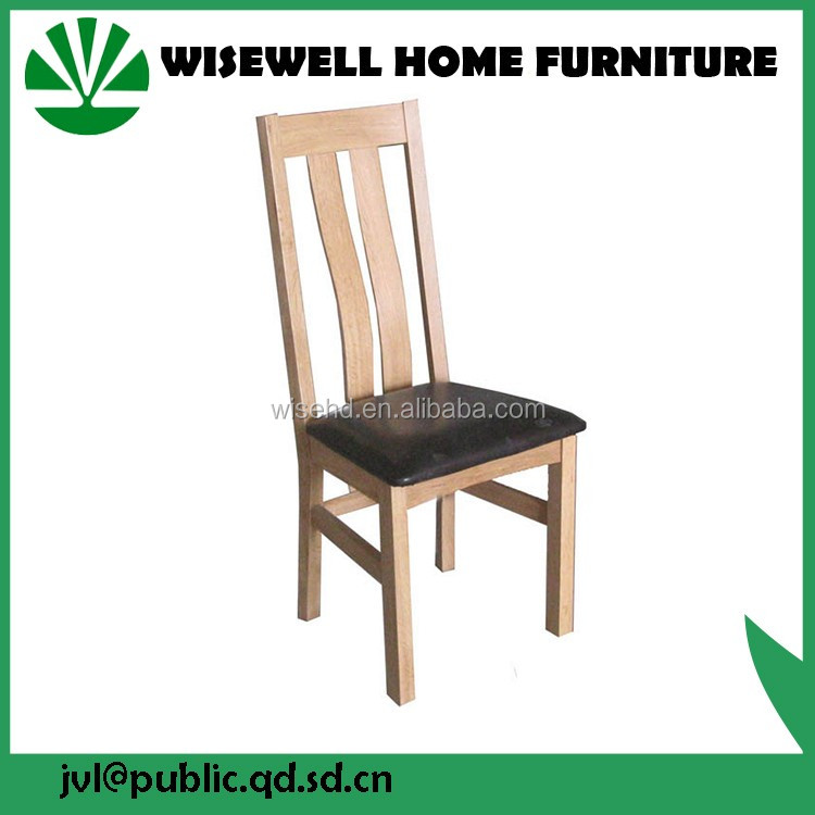 solid oak wooden dining chair with PU seat W-C-558