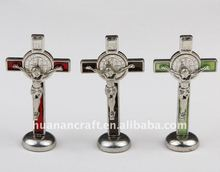 Trade assurance magnet holy religious alloy stand cross crucifix
