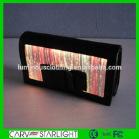 Portable Long Crossbody Mobile Glowing Leather Bag With Best Glowing Leather