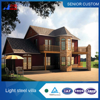 Prefab house villa, Luxury design light steel villa