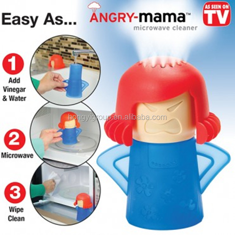 Gadget Cleaning Angry Mama Microwave Oven Cleaner
