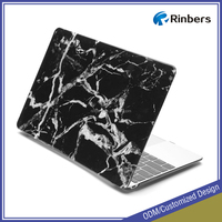 "Factory favorable price wholesale hard cover case for MacBook air 11.6"" 13.3"" with Black Marble Print"