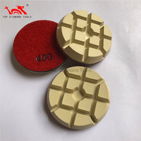 Diameter 3 inch Resin Diamond Polishing Pads For Dry Polishing Concrete Floor With High Gloss