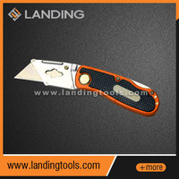 383601 tin alloy handle with ten spare blades retractable folding utility knife