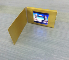Popular Small Size 2.4 Inch USB Digital Lcd Video Player Greeting Card,Blank video name card