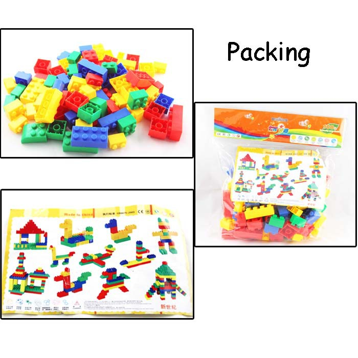 Hot selling small building plastic blocks for preschool children
