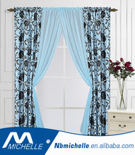 luxury turkish ready made wholesale flocked cheap curtains
