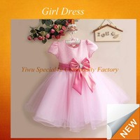 China Factory Lovely Pink Chiffon Baby Flower Girl Dress baby girl birthday dresses girls party dresses 4 years old SPSY-182