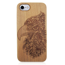 Luxury wood phone covers real wood pc bottom phone case natural carved wooden case for iPhone 6 7