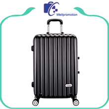 ABS printed black hard shell luggage/luggage case/wheeled luggage