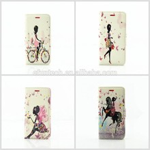 Factory OEM mobile accessory cute girl PU leather wallet flip mobile phone case for Nokia case